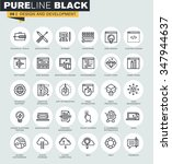 set of thin line web icons of... | Shutterstock .eps vector #347944637