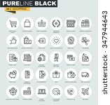set of thin line web icons of... | Shutterstock .eps vector #347944643