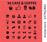 coffee shop  cafe  icons  signs ... | Shutterstock .eps vector #347962883