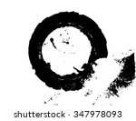 black brush stroke in the form... | Shutterstock .eps vector #347978093
