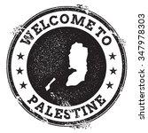 vintage passport welcome stamp... | Shutterstock .eps vector #347978303
