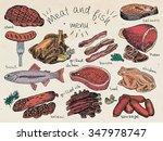 meat and fish menu  steak ...