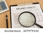 financial statement with... | Shutterstock . vector #347979143