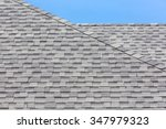 close up of new rubber roof... | Shutterstock . vector #347979323