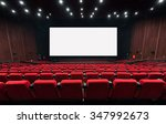 Empty Movie Theater With Red...