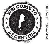 vintage passport welcome stamp... | Shutterstock .eps vector #347993483