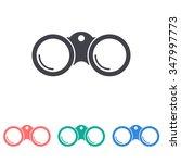 binoculars icon  | Shutterstock .eps vector #347997773