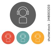 listening icon | Shutterstock .eps vector #348003203