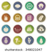 grocery label icons for web | Shutterstock .eps vector #348021047
