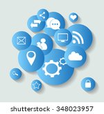 social media icons for... | Shutterstock .eps vector #348023957