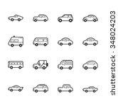 set of car icons   eps10 vector ... | Shutterstock .eps vector #348024203