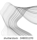 curved lines background white... | Shutterstock .eps vector #348031193
