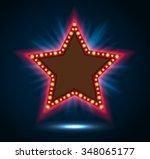 shining blue spotlight on... | Shutterstock . vector #348065177