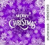 christmas light background.... | Shutterstock . vector #348065543