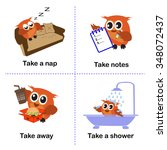 set of take activities  how to... | Shutterstock .eps vector #348072437