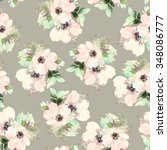 seamless pattern with flowers... | Shutterstock . vector #348086777