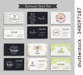 professional business card ... | Shutterstock .eps vector #348097187