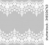seamless lace pattern  flower... | Shutterstock .eps vector #348106763