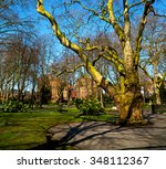 park in london spring sky and... | Shutterstock . vector #348112367