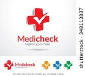 medic check logo template... | Shutterstock .eps vector #348113837