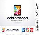 mobile connect logo template... | Shutterstock .eps vector #348114467