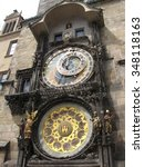 astronomical clock prague czech ... | Shutterstock . vector #348118163