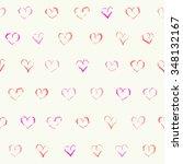 cute doodle seamless pattern.... | Shutterstock . vector #348132167