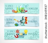 science horizontal banner set... | Shutterstock .eps vector #348145937