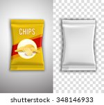chips realistic packaging... | Shutterstock .eps vector #348146933