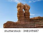 Twin Rocks In Bluff  Utah  Usa