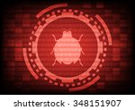 red of ring and gears with... | Shutterstock .eps vector #348151907