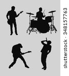 music band outlines | Shutterstock .eps vector #348157763
