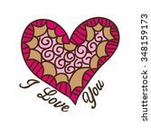 love card design  vector... | Shutterstock .eps vector #348159173