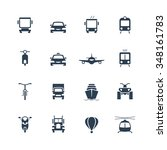 transportation icon set  front... | Shutterstock .eps vector #348161783