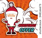 christmas sale design  vector... | Shutterstock .eps vector #348166673