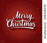 beautiful  lettering of merry... | Shutterstock .eps vector #348168233