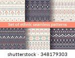 aztec geometric backgrounds.... | Shutterstock .eps vector #348179303