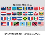 north america flag collection | Shutterstock . vector #348186923