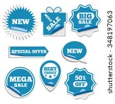 set of bright labels sale in... | Shutterstock . vector #348197063