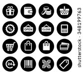 shopping icons set | Shutterstock . vector #348199763