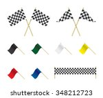 Racing Flags Set Illustration