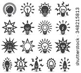 light bulbs. bulb icon set | Shutterstock .eps vector #348215813