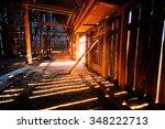 inside old barn | Shutterstock . vector #348222713