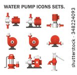 vector icon of electric water... | Shutterstock .eps vector #348224093