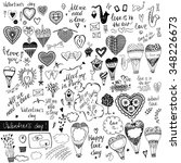 a big set of handdrawn style...   Shutterstock .eps vector #348226673
