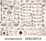 mega set of design elements | Shutterstock .eps vector #348238913