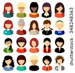 set of flat icons set with... | Shutterstock .eps vector #348248363