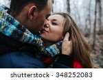 beautiful young couple and... | Shutterstock . vector #348252083