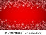 snowflakes on red background  ... | Shutterstock . vector #348261803