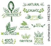 set of hand drawn logos ... | Shutterstock .eps vector #348276263